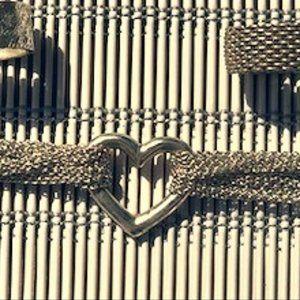 Tiffany & Co. Multi Chain Mesh Heart Bracelet